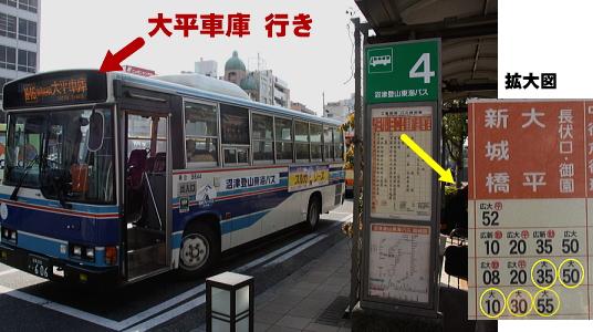 三島駅のバス乗り場4番
